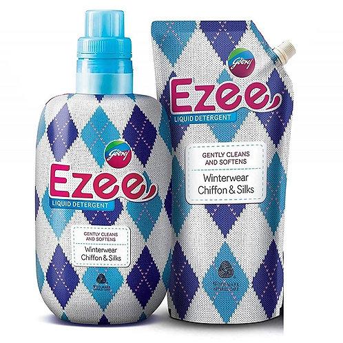 Godrej Ezee Liquid Detergent - Winterwear, Chiffon & Silks 2kgs (1 bottle + 1 re