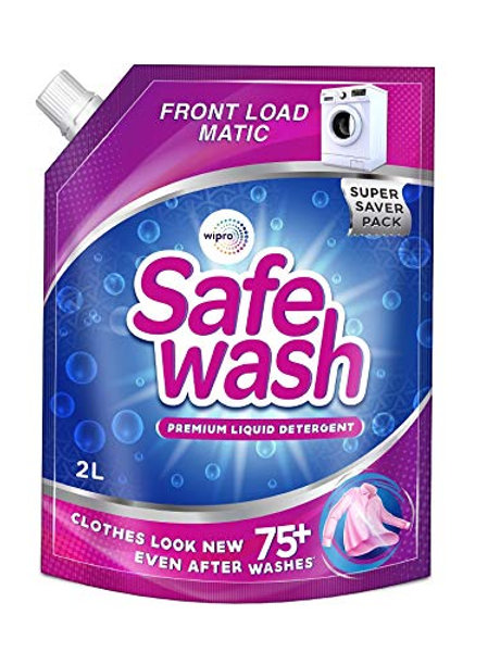 Safewash Matic Front Load Liquid Detergent by Wipro, 2L