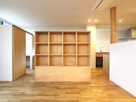 両面使える収納間仕切り 家族の書斎