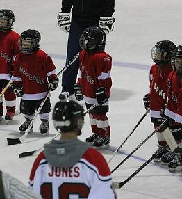 Kids hockey team at the Gull Lake Skating Rink