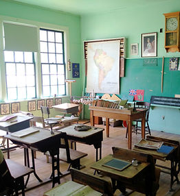 Gull Lake Museam School House exibit.