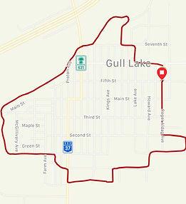 Map of the Kiaskus Walking-Path in Gull Lake, Saskatchewan