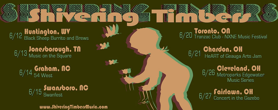 Shivering Timbers 2014 June  tour dates