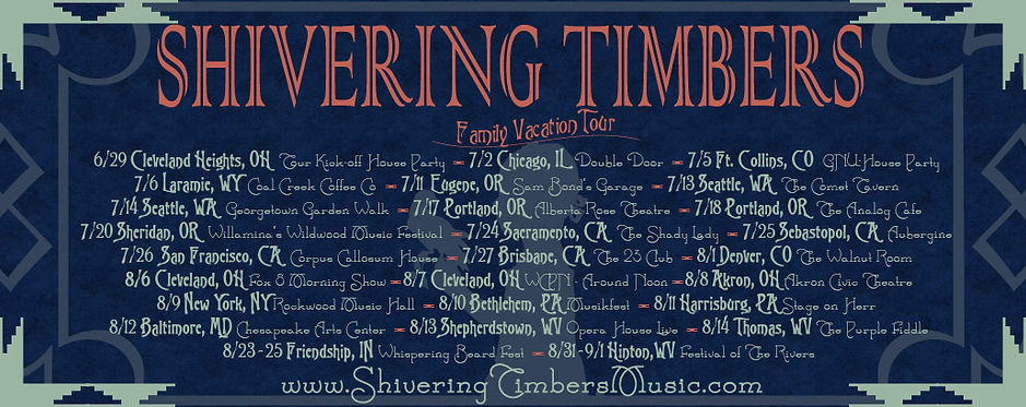 Shivering Timbers 2013 tour dates