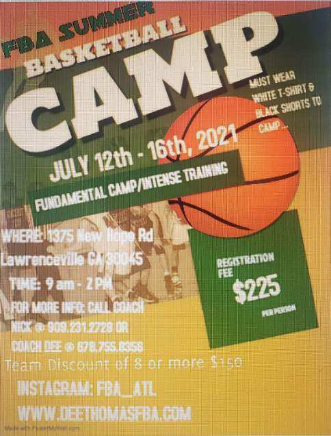 Summer Camp 2 -July 12-16th