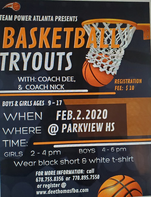 AAU Try-Out Registration (TEAMPOWER)