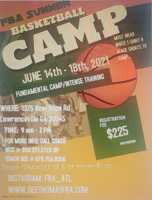 Summer 2021 Basketball Camp
