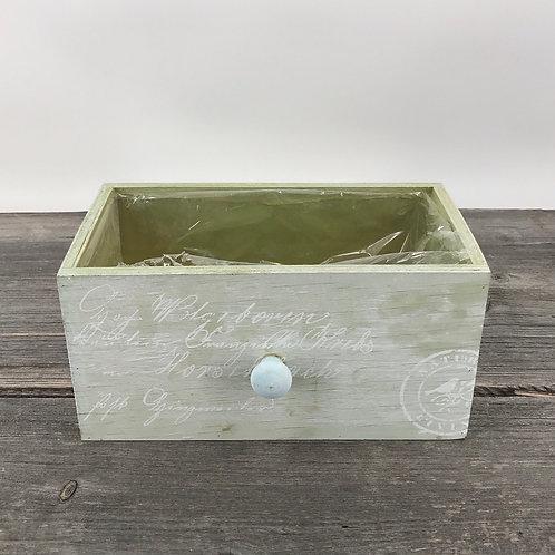 Schublade zum bepflanzen in mintgrün