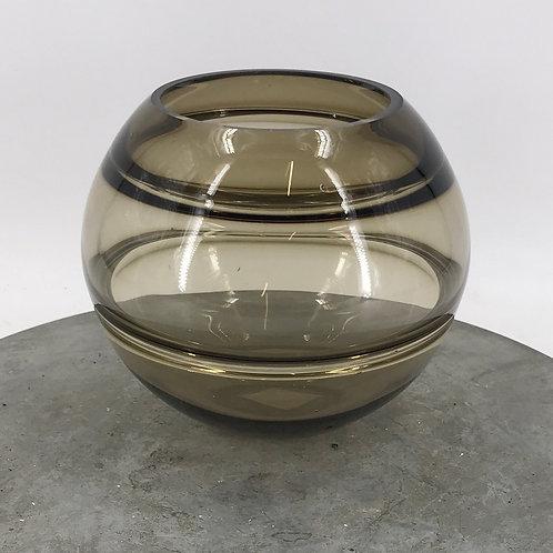 Edelglasvase aus getöntem Glas 19x17 cm