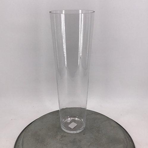 Glasvase konisch 16x50 cm