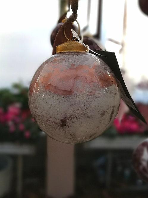 Kugel Marmoroptik rosa