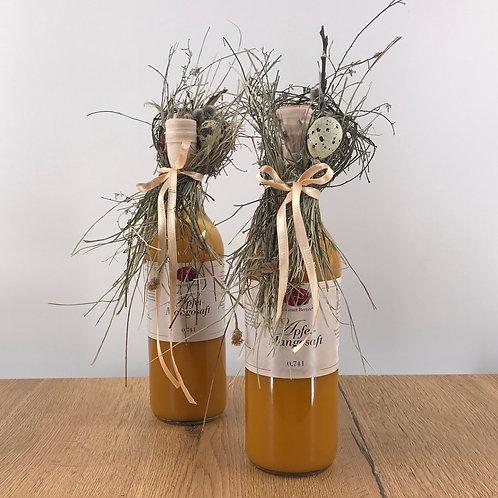Apfel-Mangosaft mit Heukragen