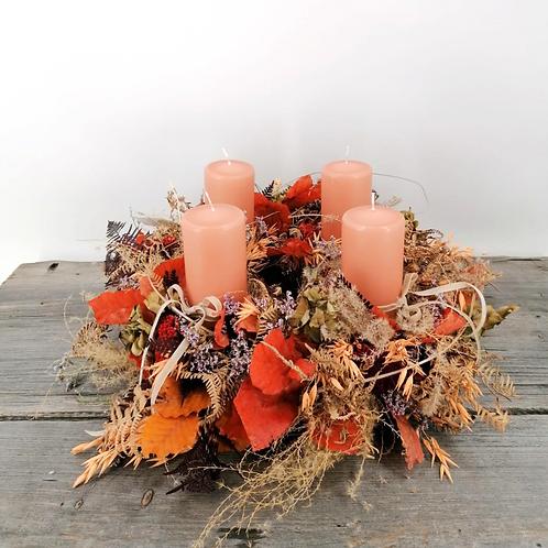 Dried Flower Adventkranz