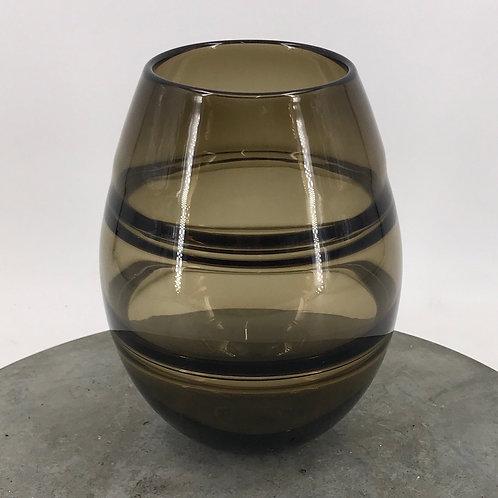 Edelglasvase mit getöntem Glas 16x23 cm