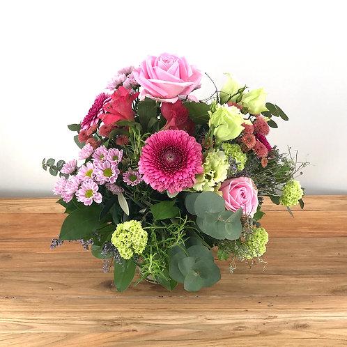 Strauß rosa gemischte Blüten
