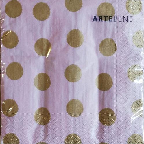 Servietten rosa-gold