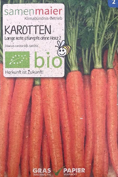 """Karotten """"Lange rote Stumpfe ohne Herz 2"""""""
