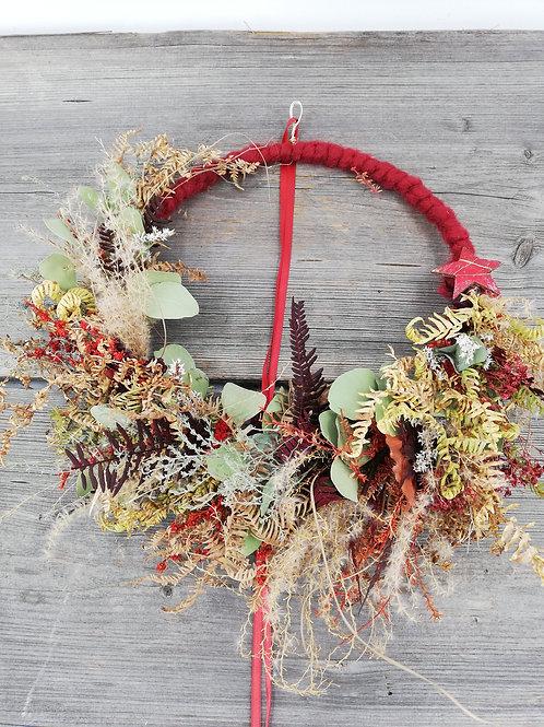 Hoops - Türkränz - Wandkranz aus Trockenblumen
