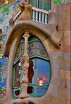Gaudi's Casa Batllo in Barcelona, Spain.