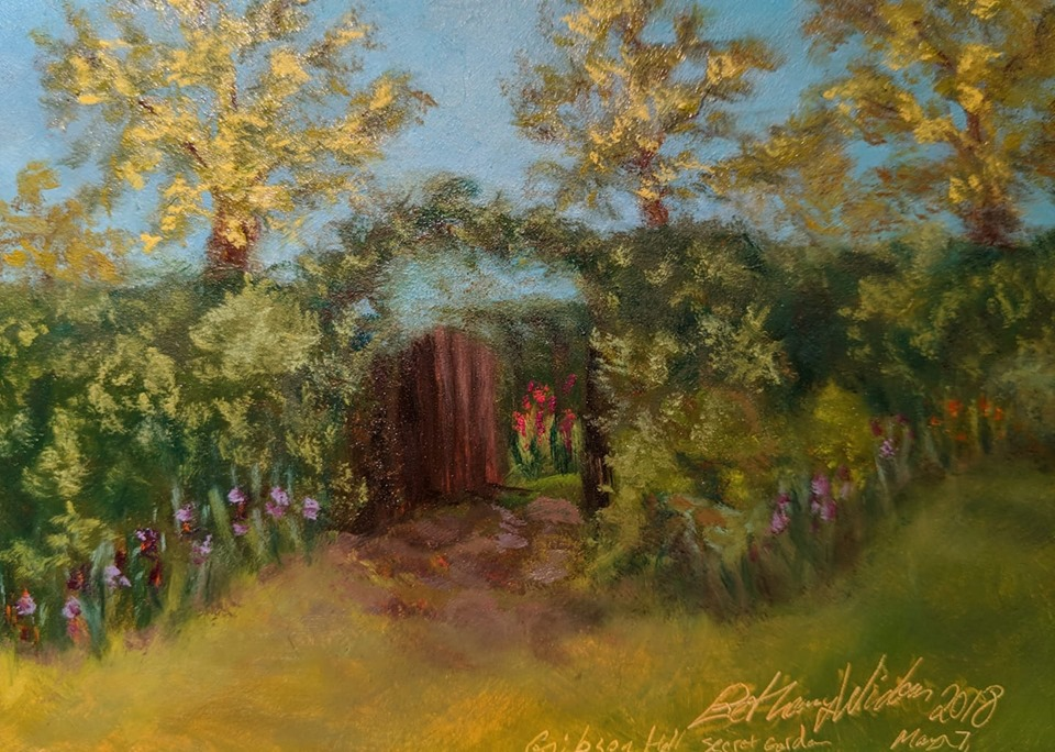 Secret Garden of Gibson Hall 5x7