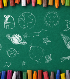 AndyQuest Solar System chalkboard image