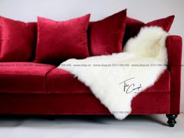 Bộ sofa Velvet Burgundy