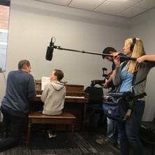 part of filming for the NET documentary segment