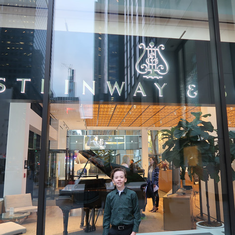 in front of Steinway store NYC!