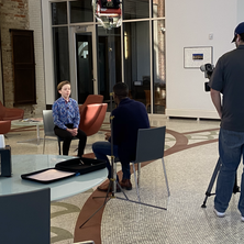Being interviewed by DaLaun Dillard from KETV about the Omaha Symphony performance