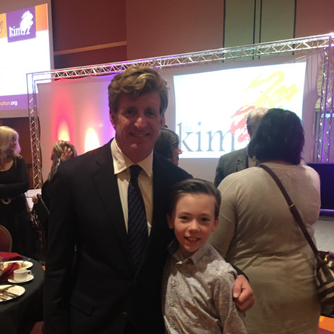 with Patrick Kennedy.  I sang the National Anthem at the KIM Foundation fundraising luncheon. They do wonderful things for mental health.