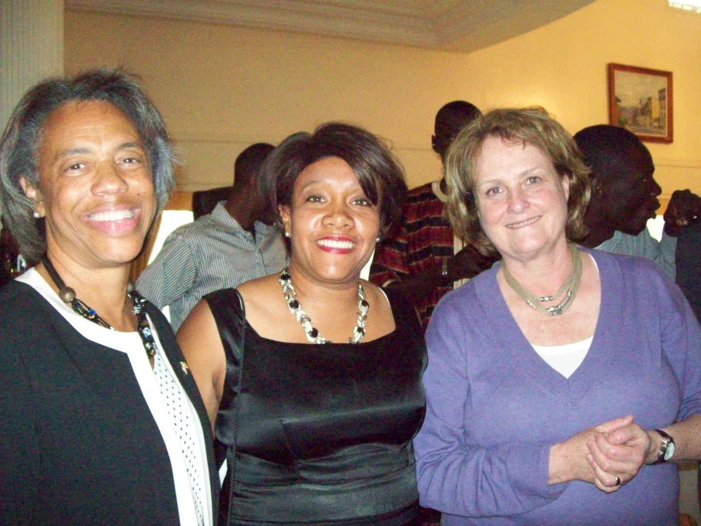 ISE Director, Paullette Diaz-Reed with Under-Secretary Judy McHale (to the right) and U.S. Secretary Marcia Bernicat, (presently the U.S. Ambassador to Bangladesh).