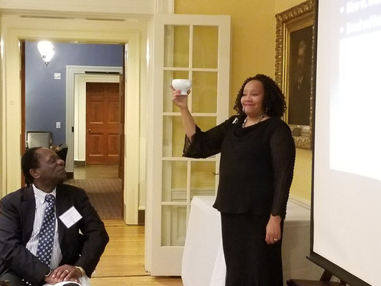 The  2018  Office of African American Affairs and UVA McIntyre School of Commerce Etiquette Dinner.