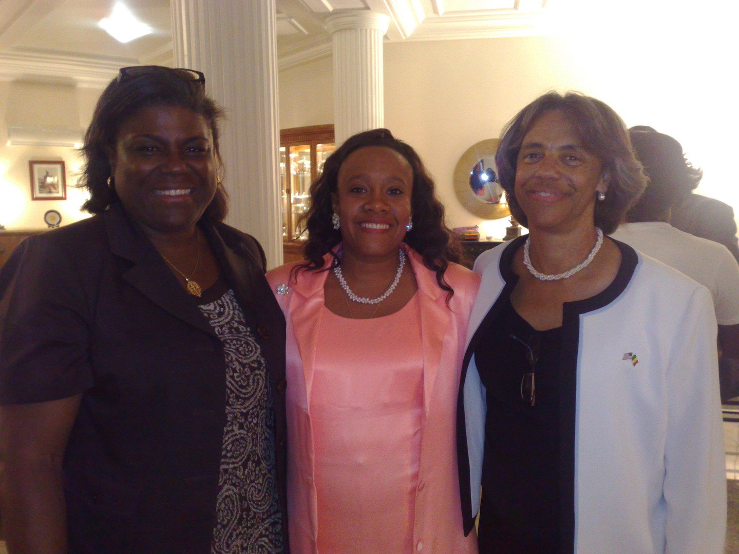 ISE Director Paullette Diaz-Reed with Former U.S. Secretary Linda Green, and Ambassador Marcia Bernicat, (Presently the Ambassador to Bangladesh)