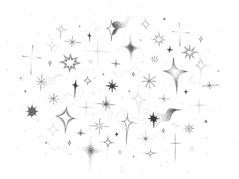 the simple pleasure of looking up at the stars while walking on the pavement