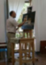 Pintando en el Taller de GMV