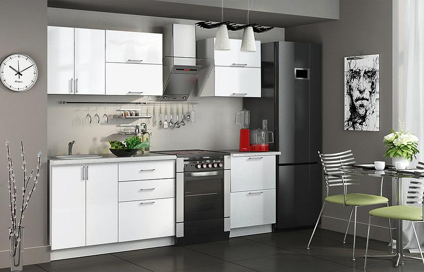 """Кухня МДФ.  """"Белый"""" 1,8 м"""