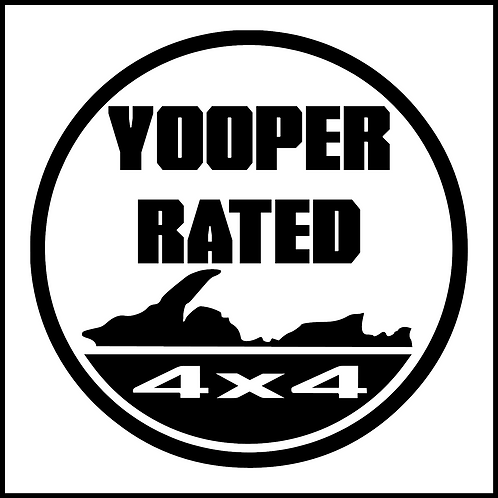 Yooper Rated 4x4 Decal