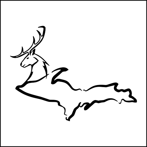 Deer Head U.P. Decal