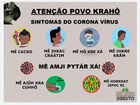 Material na língua krahô já produzido pela campanha