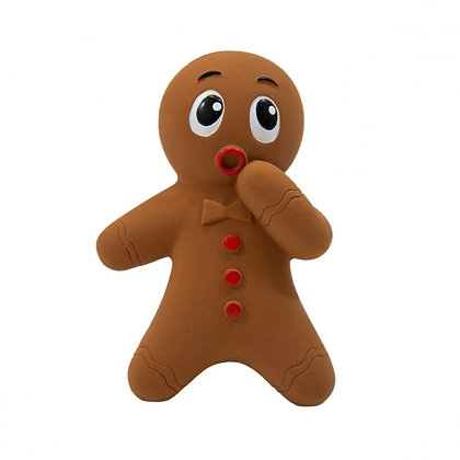 Tootiez Gingerbread Man Holiday Dog Toy