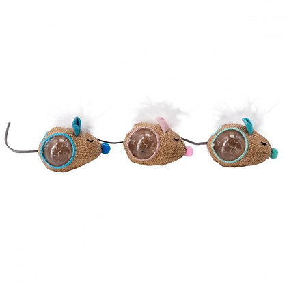 Mousin' Around Hide 'N Treat Cat Toy - 3 Pack