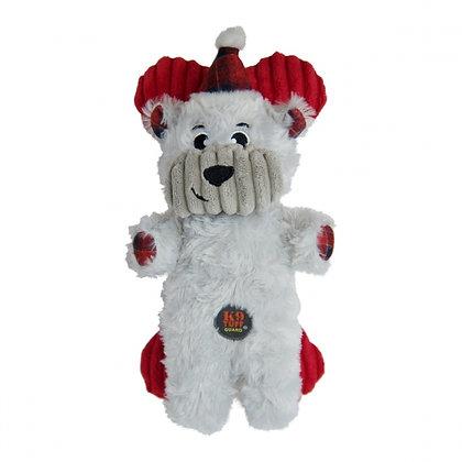 Snuggle Babies Holiday Polar Bear and Bone Dog Toy - 2 Pack