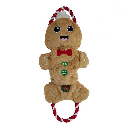 Crunch N Scrunch Gingerbread Man Dog Toy