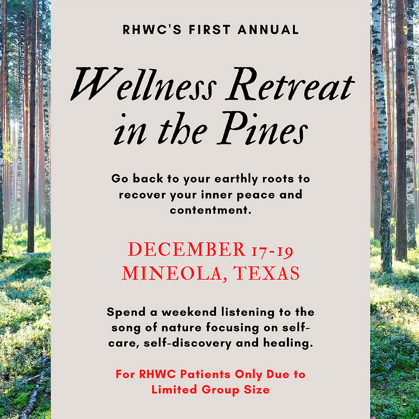 Wellness Retreat in the Pines 2021