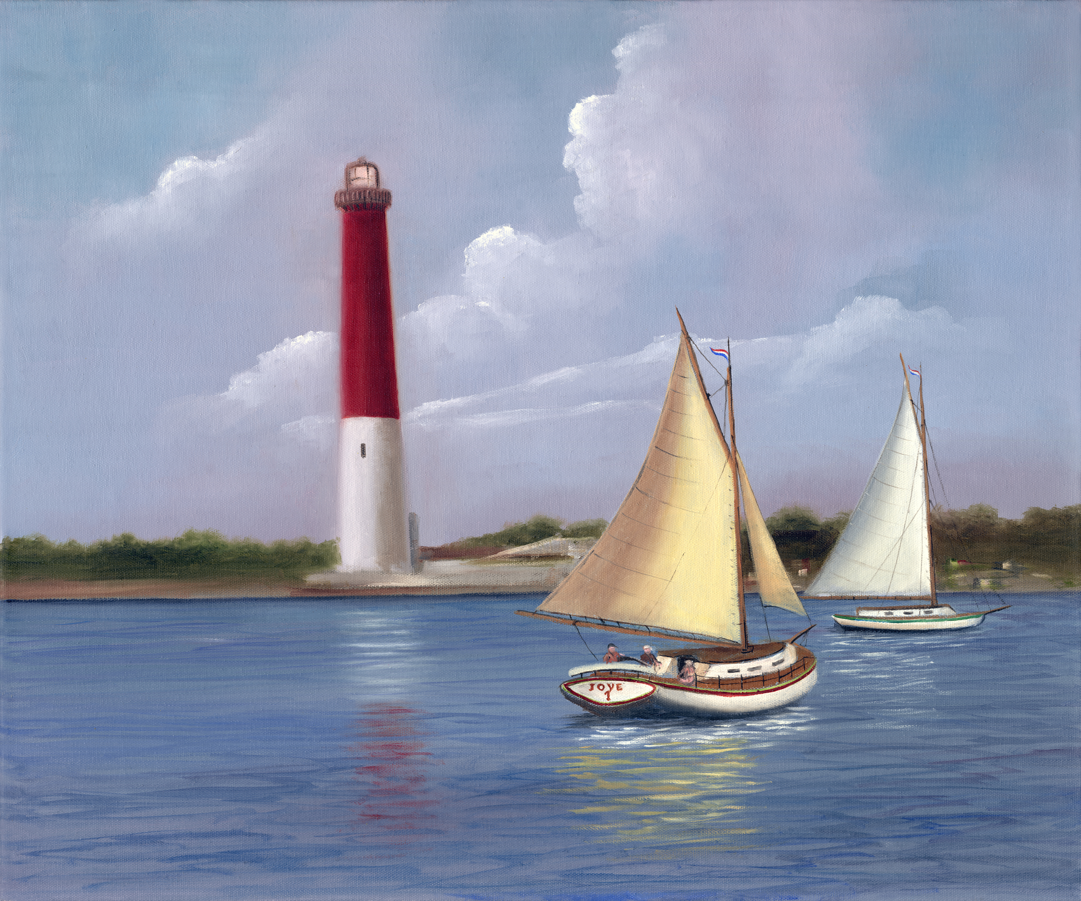 Old Barney Lighthouse by H. Hargrove