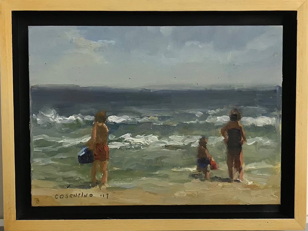 """""""Manasquan Summer Series 1 2017"""" 5x7 oil on panel in float frame by Steven M. Cosentino $325.00"""