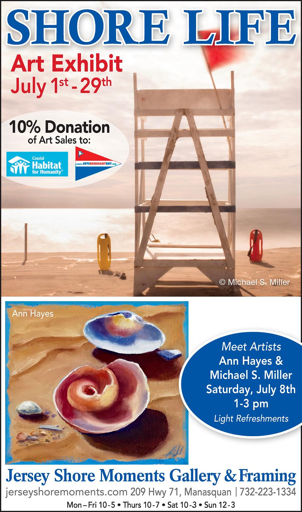 """Shore Life"" Art Exhibit continues through July 29th"