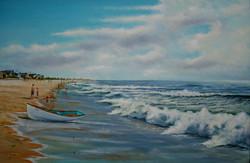 """Guard Boat Bay Head Beach"""