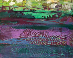 Landscape in Purple and Green