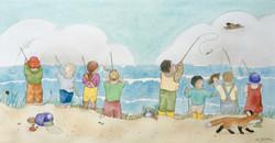8 Fishermen on the Beach